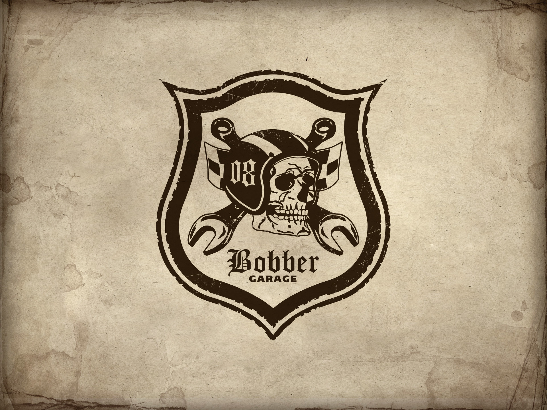 SM Graphic Design Referenzen  Bobber Garage Logo Signet 2017