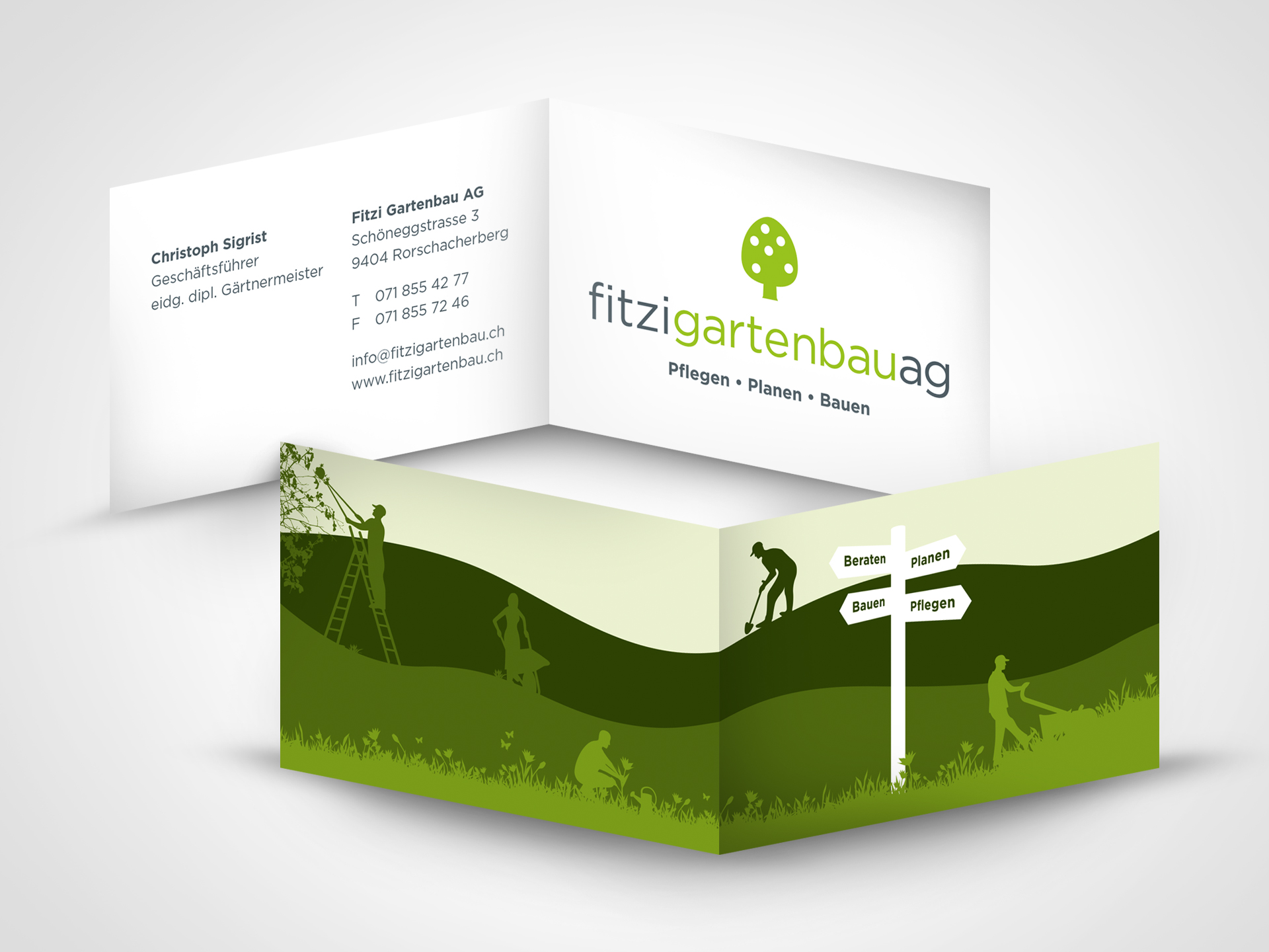 SM Graphic Design Referenzen Webdesign Logo Illustration Fitz Gartenbau